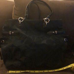 Coach Bags - Canvas black coach bag